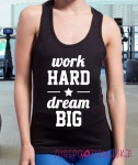 "Bokserka ""Work HARD, dream BIG"""