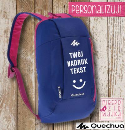 c25eab95b693e Plecak Quechua Arpenaz z własnym nadrukiem