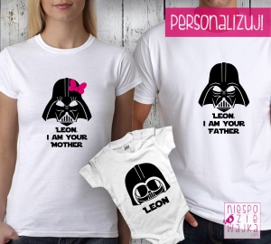 "Komplet 2 koszulek + body ""I am your father/mother"""